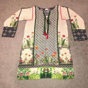 2 pc So Kamal linen suit